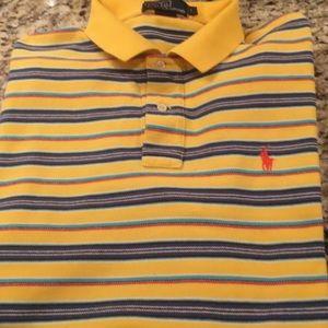 Polo Ralph Lauren Yellow Striped Polo